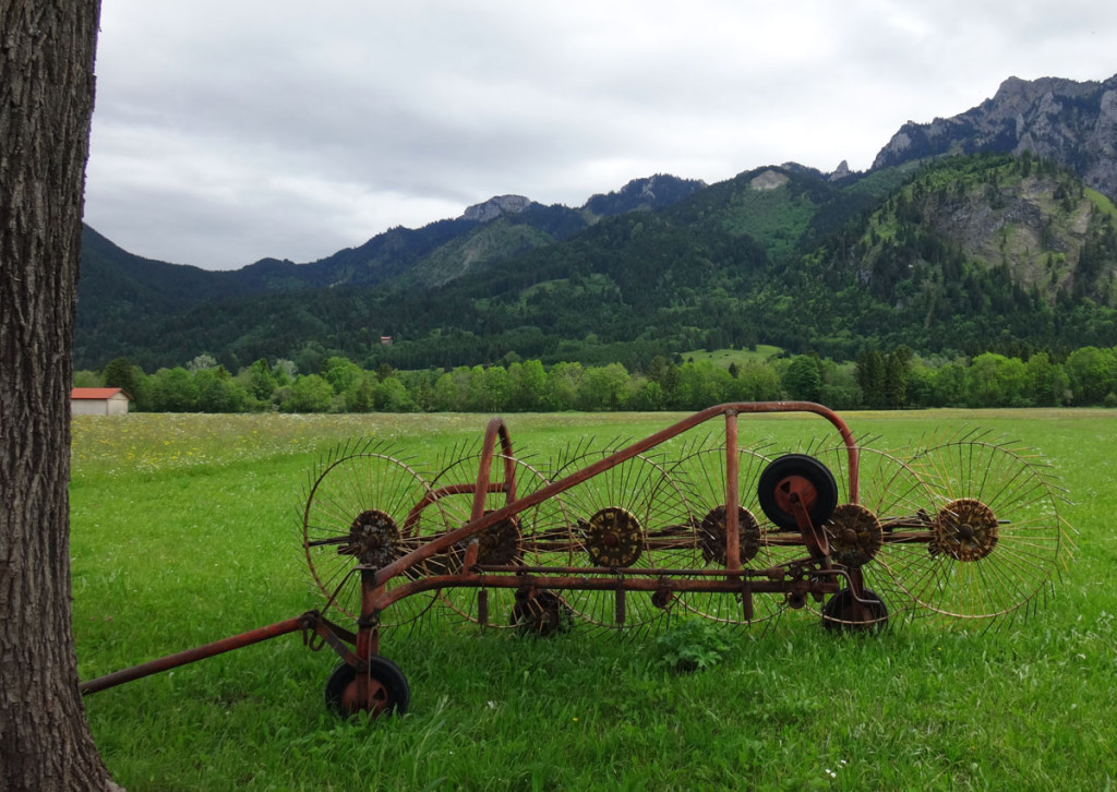 Farm machinery as we drove to Oberammergau