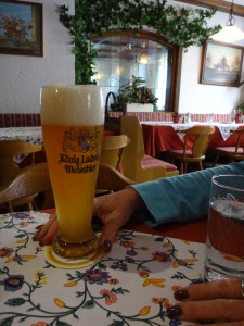 Enjoying the beer of kings in Oberammergau
