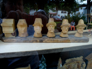 Stages of woodcarving