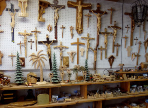 Woodcarving shop in Oberammergau