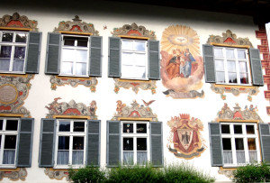 This house features a religious theme. Oberammergau Lüftlmalerei