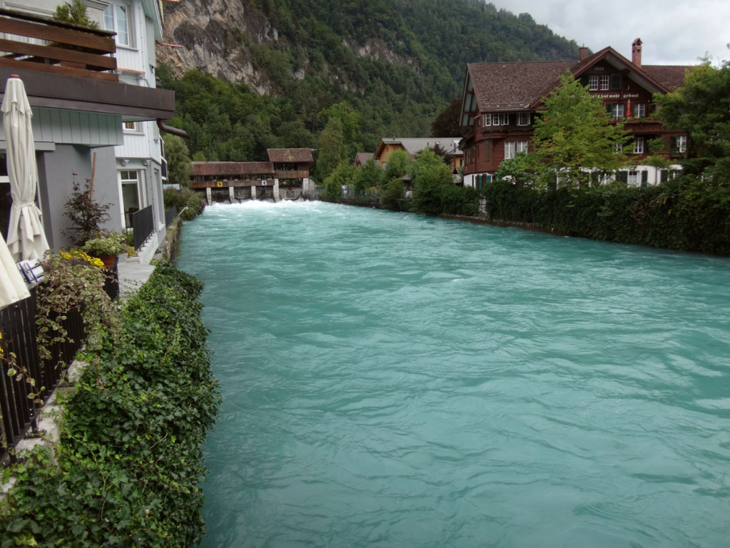 The Aare river is Switzerland's longest river and feeds into the Rhine which we would be traveling on in just a few days.