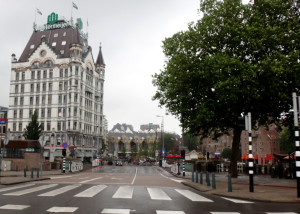 The White House, built about 1900, survived the central city bombing and today is still used as a luxury hotel. You can read more about the White House at Architecture in Rotterdam.
