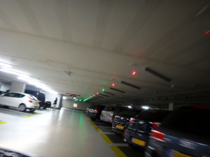"It was big and easy to navigate.  It was no problem finding a parking space – just look for a bright green light over a space, indicating the space is free; red indicates ""taken."""