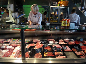 One of several Markthall butcher shops