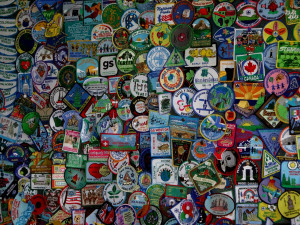 Patches represent the thousands of visits from traveling scouts.