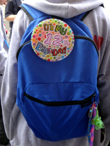 Loved this badge on one of the scout's backpacks