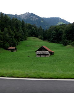 Just another pretty barn on the road between Interlaken and Lucerne.