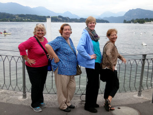 Barbara, Maureen, Tracy, Rachel in Lucerne, Switzerland