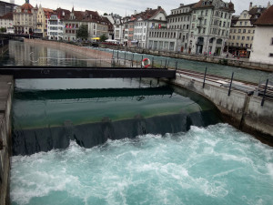 Water is controlled by sluices