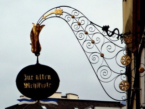 Shop sign in Lucerne, Switzerland
