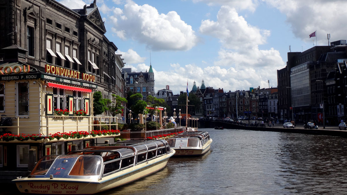 Amsterdam is the question.  No, I did not. Is the answer.