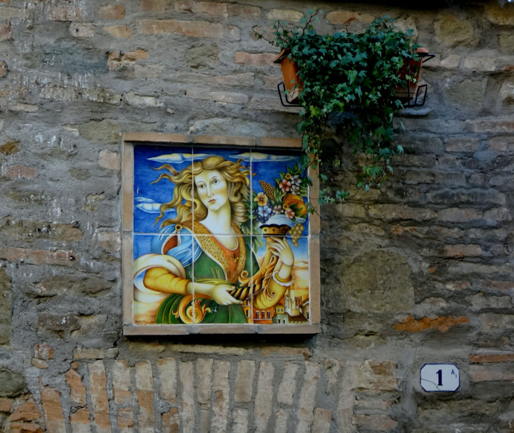 Ceramic wall art in Deruta, Italy 2016
