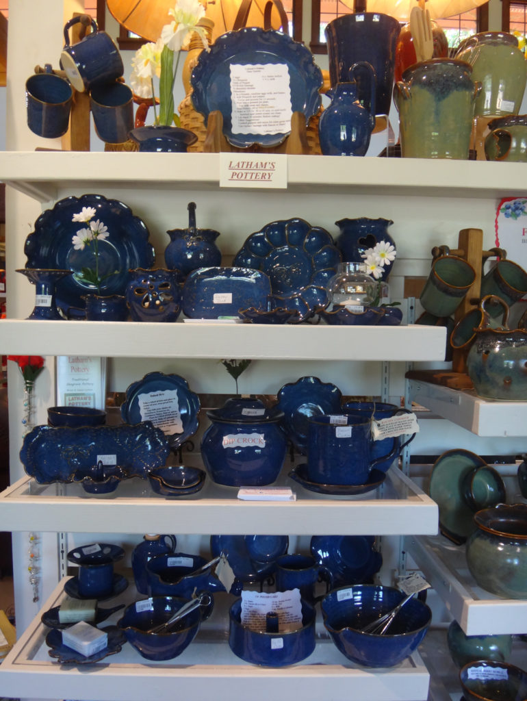 Latham's Pottery at Seagrove Creations Pottery Gallery