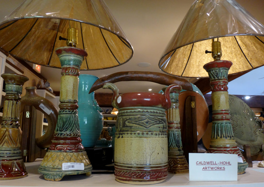Caldwell-Hohl artworks at Seagrove Creations Pottery Gallery