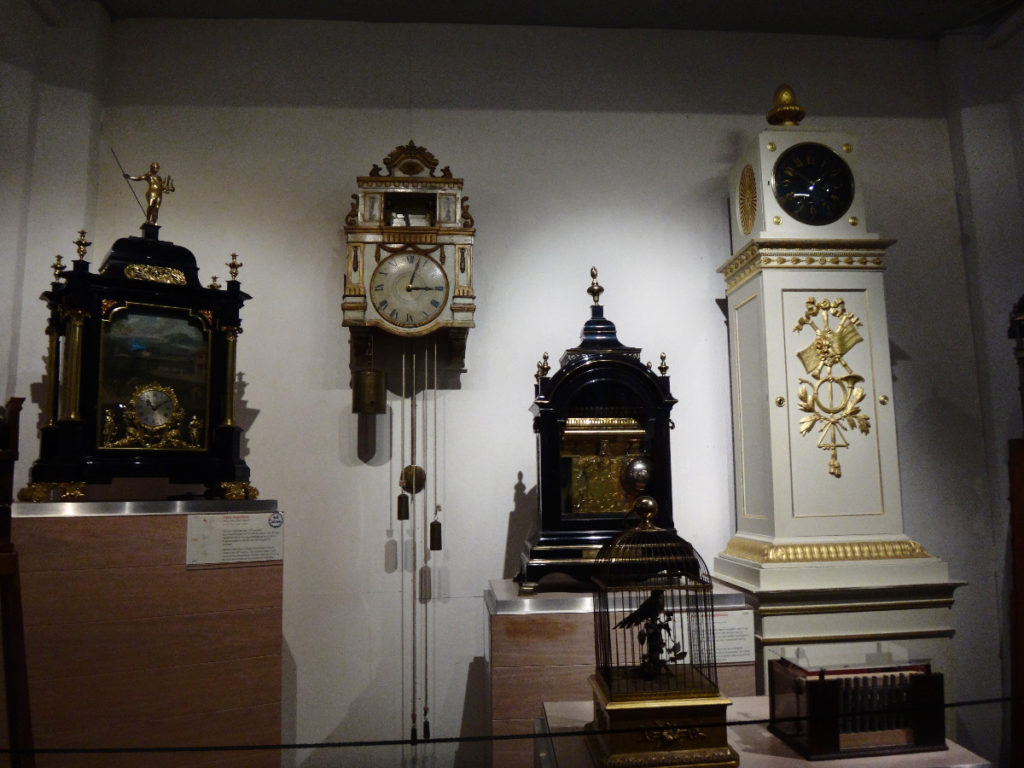 You can easily see the diversity in design of these music boxes and clocks.