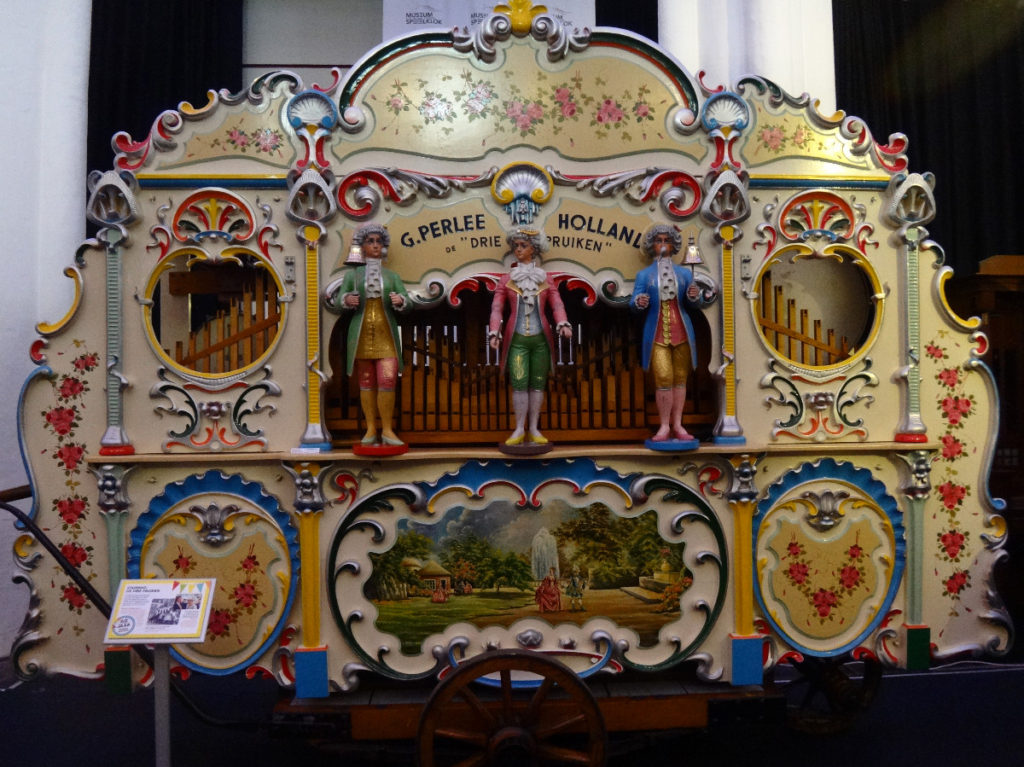 This is the large calliope-type musical instrument that works perfectly, booming out tunes that fill the museum with sound.