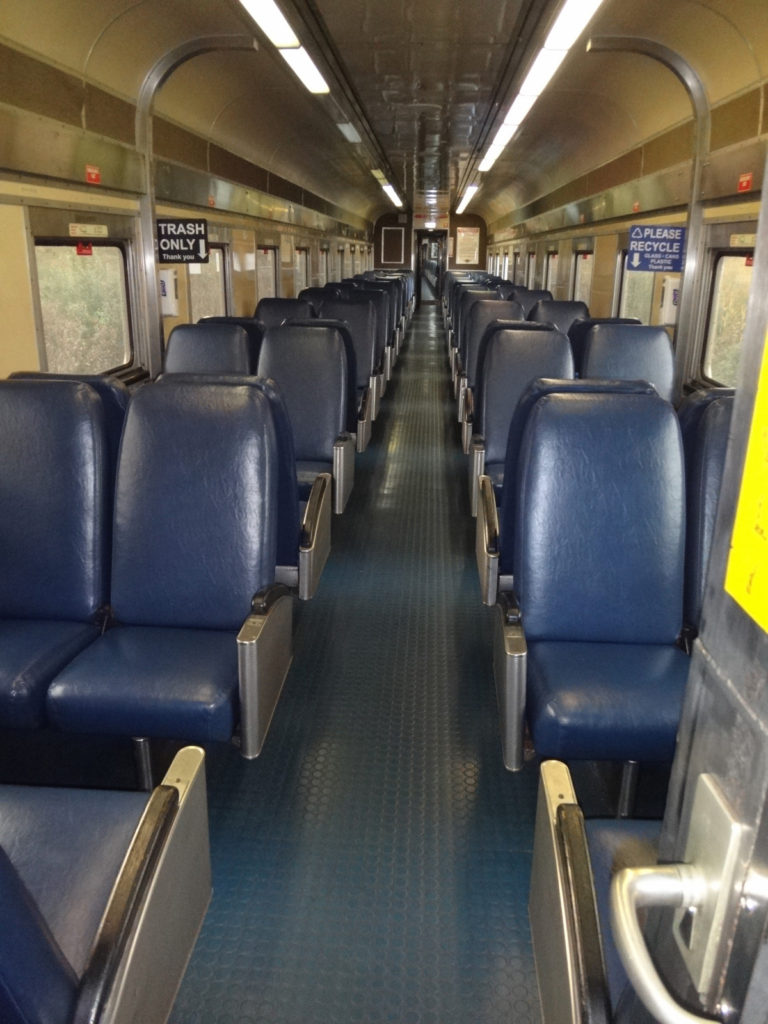 Most of the train cars are different because the CVSR has purchased cars as they become available. This is a typical passenger car.