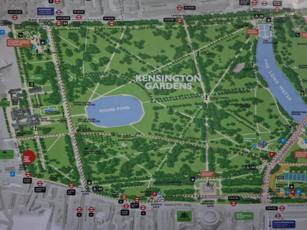 kensington palace map gallery