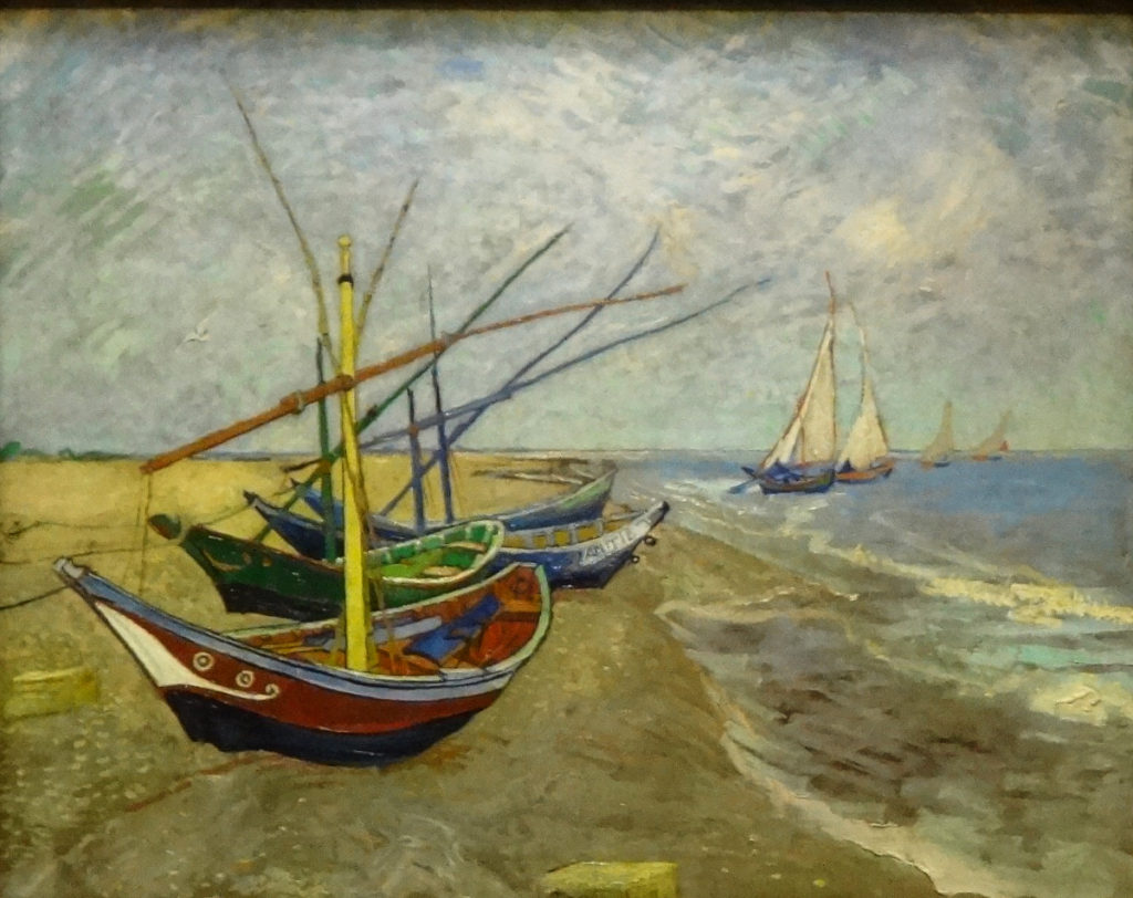 DSC03309 Arles Van Gogh - Fishing Boats on the Beach at Les Saintes-Maries-de-la-Mer 1888