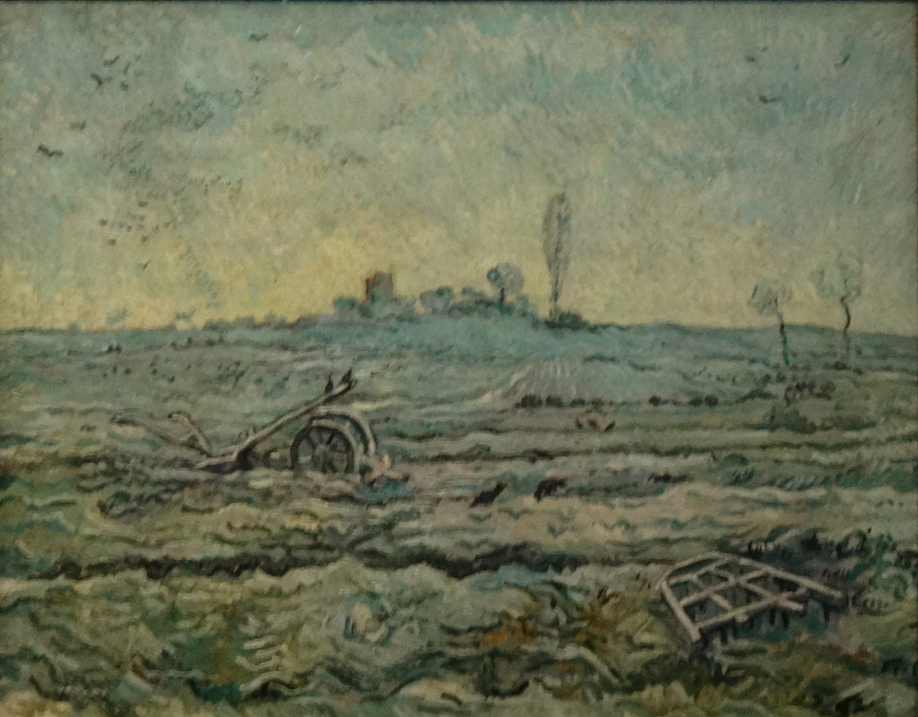 DSC03316 Arles Van Gogh - Snow Covered Field with a Harrow, 1890