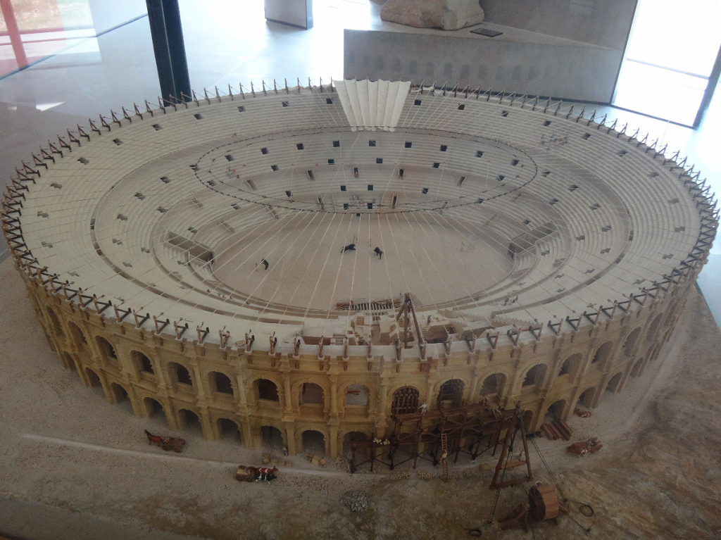 Model of the Arles coliseum. Musée de l'Arles et de la Provence antiques