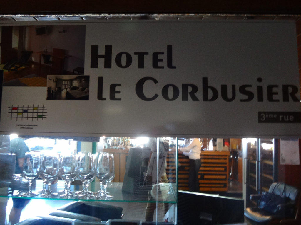 Hotel located right in the high rise. Unite d'Habitation Le Corbusier. Marseille, France